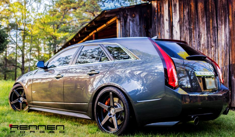 CTS-V Wagon on Rennen Forged R5 Wheels - Rennen International